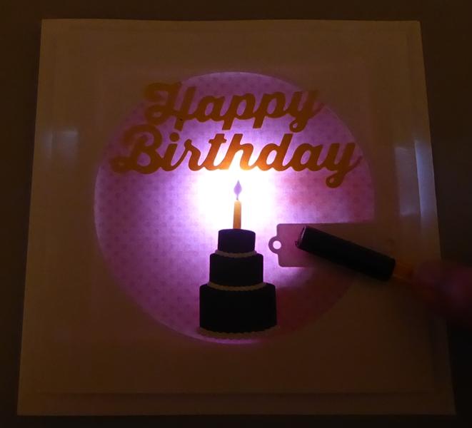 Chibitronics Light Up Birthday Card Finished