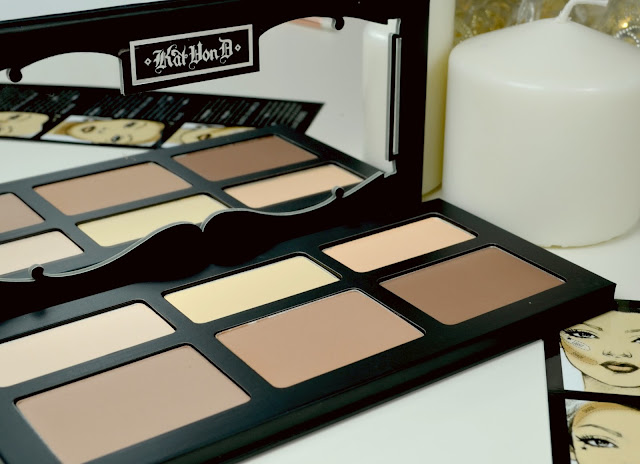 Kat Von D - Shade and light - contour palette - review - make up - Swatches - pressed powder - highlight - contouring