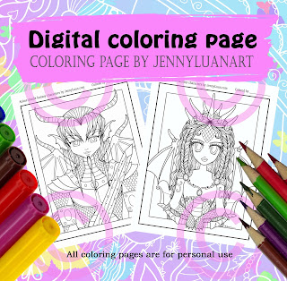 anime boy and girl dragon pack by JennyLuanArt