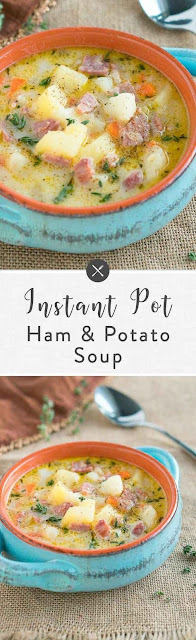 INSTANT POT HAM AND POTATO SOUP RECIPES