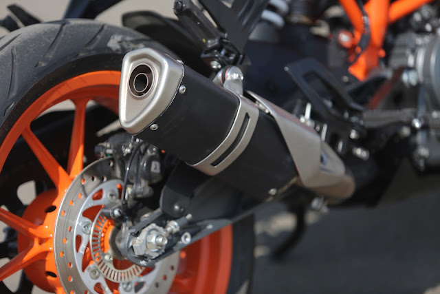 the new exhaust in ktm rc 125