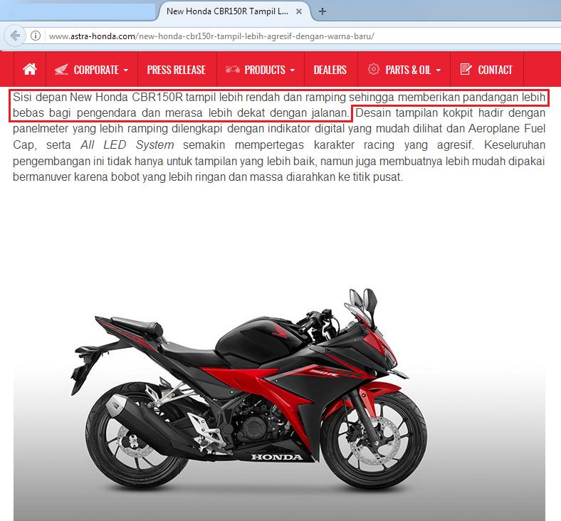 Visor All New Honda CBR 150R agak kekecilan ? ini dia penyebabnya sob
