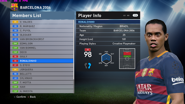 PES 2016 UCL Winners For PTE Patch 6.0