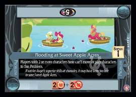 My Little Pony Flooding at Sweet Apple Acres Absolute Discord CCG Card