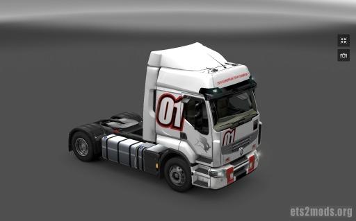 Renault Premium white racing skin