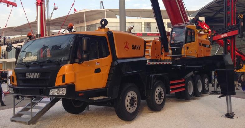 sany stc1250 hydraulic truck crane
