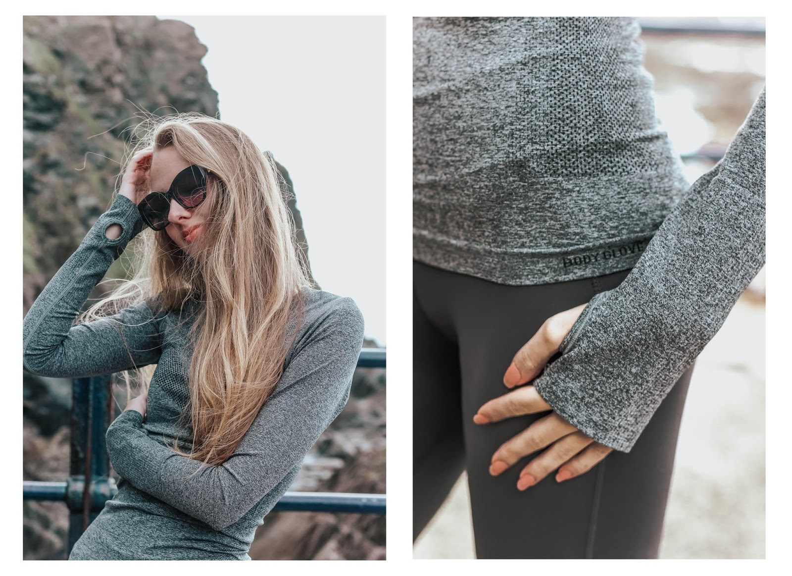 Bodyglove Activewear Joshua Tree Top in Charcoal