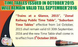 Indian Railway : Train Time Table 2016