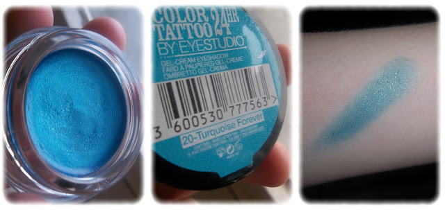 Swatch Ombre à Paupières Color Tattoo 24hr Teinte Turquoise Forever - Maybellline