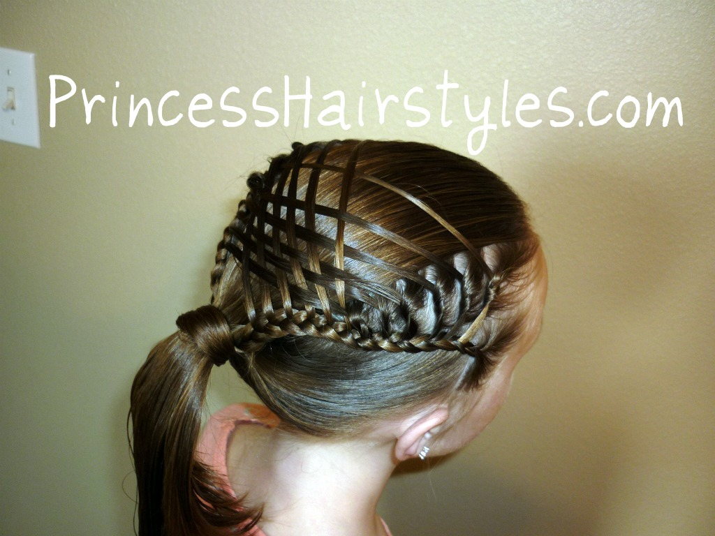 woven french braid ponytail   hairstyles for girls - princess