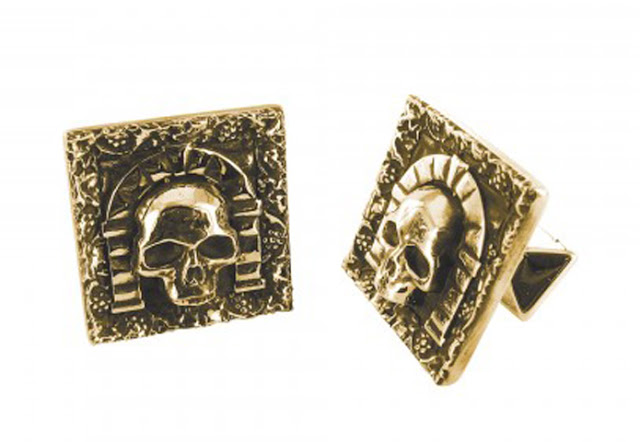 gold catacombs cuff links