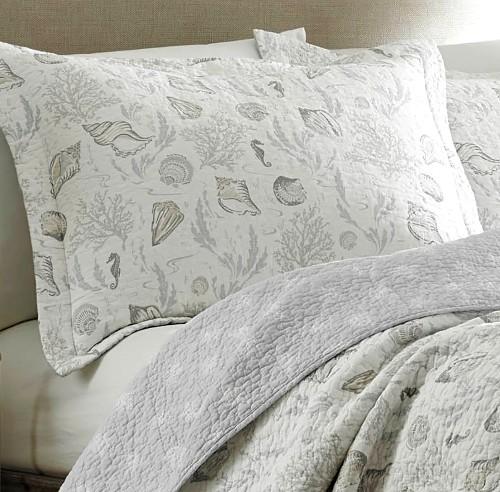 Gray Seashell Bedding