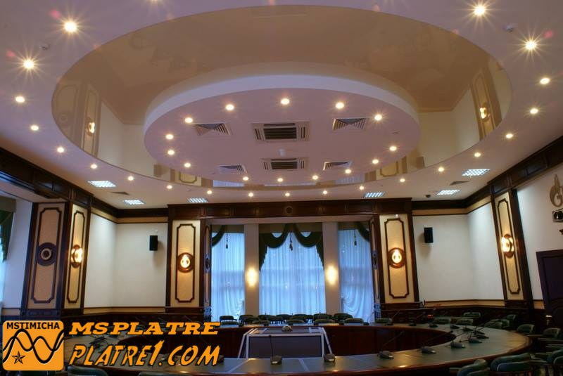 Decoration faux plafond salon for Decoration platre salon moderne