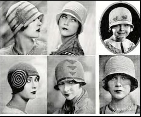 Distintos tipos de sombreros cloche