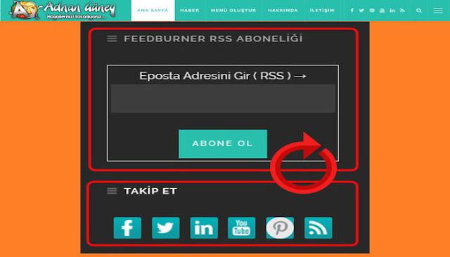 """WordPress.com kendinden barındırmalı web siteleri için, """"Feedburner Rss ile Abone Ol"""" uygulaması. Hiçbir eklenti yüklemeden Feedburner Rss ile Abone olma kodlarını web sitenizde kullanabilirsiniz."""