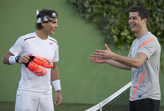 auxiliar Elegancia alivio  Rafaholics.com: Rafael Nadal with Cristiano Ronaldo Nike Ad & Interview