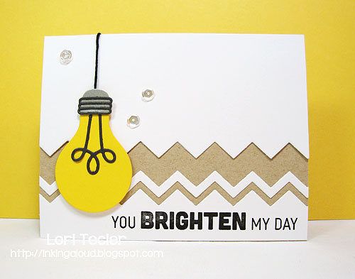 You Brighten My Day card-designed by Lori Tecler/Inking Aloud-stamps and dies from My Favorite Things