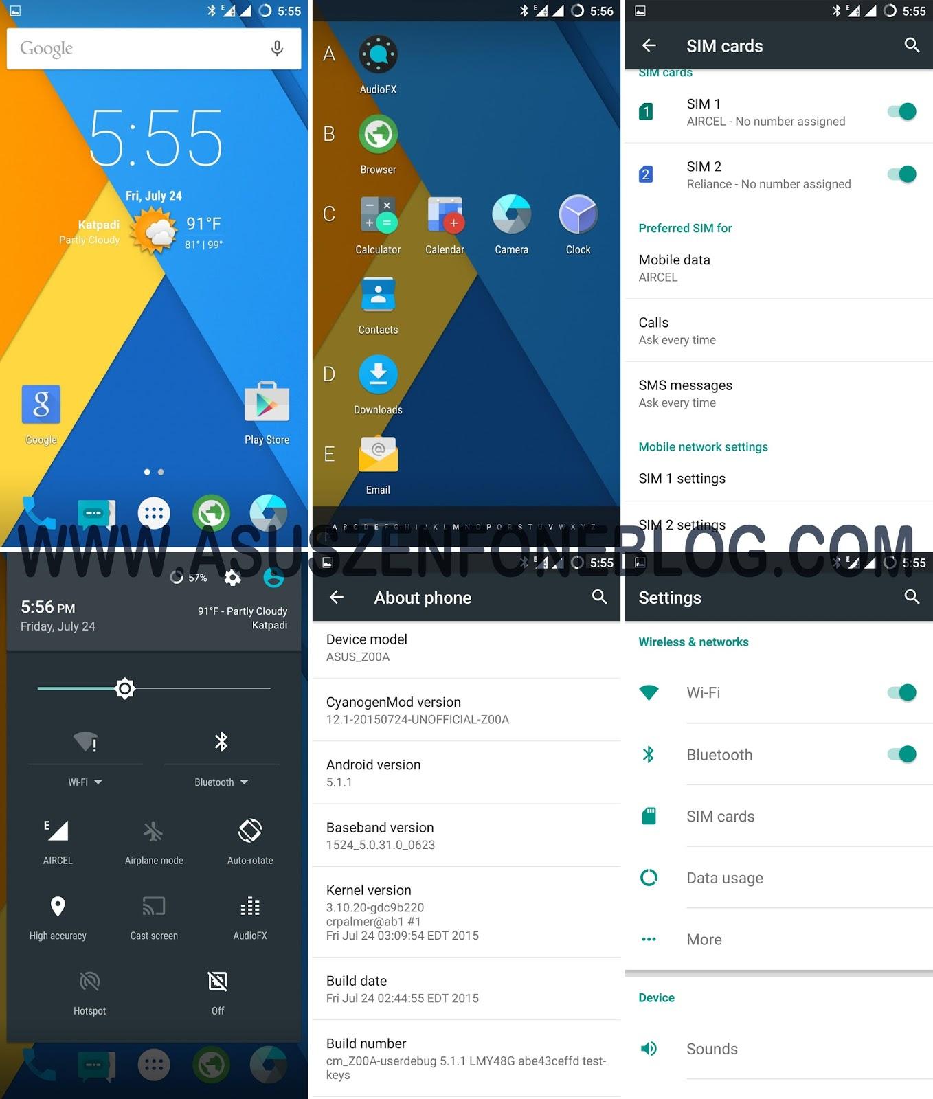 ROM] CyanogenMod 12 1 for Asus ZenFone 2 (Z00A)