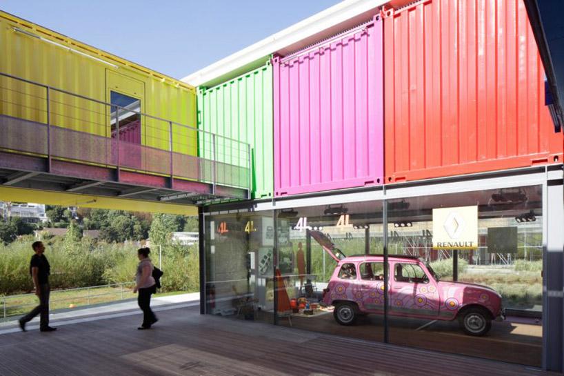 shipping container homes renault l 39 ile seguin paris 15 shipping container pavilion. Black Bedroom Furniture Sets. Home Design Ideas