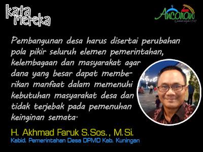 H. Akhmad Faruk S.Sos., M.Si. - Kabid. Pemdes DPMD Kab. Kuningan
