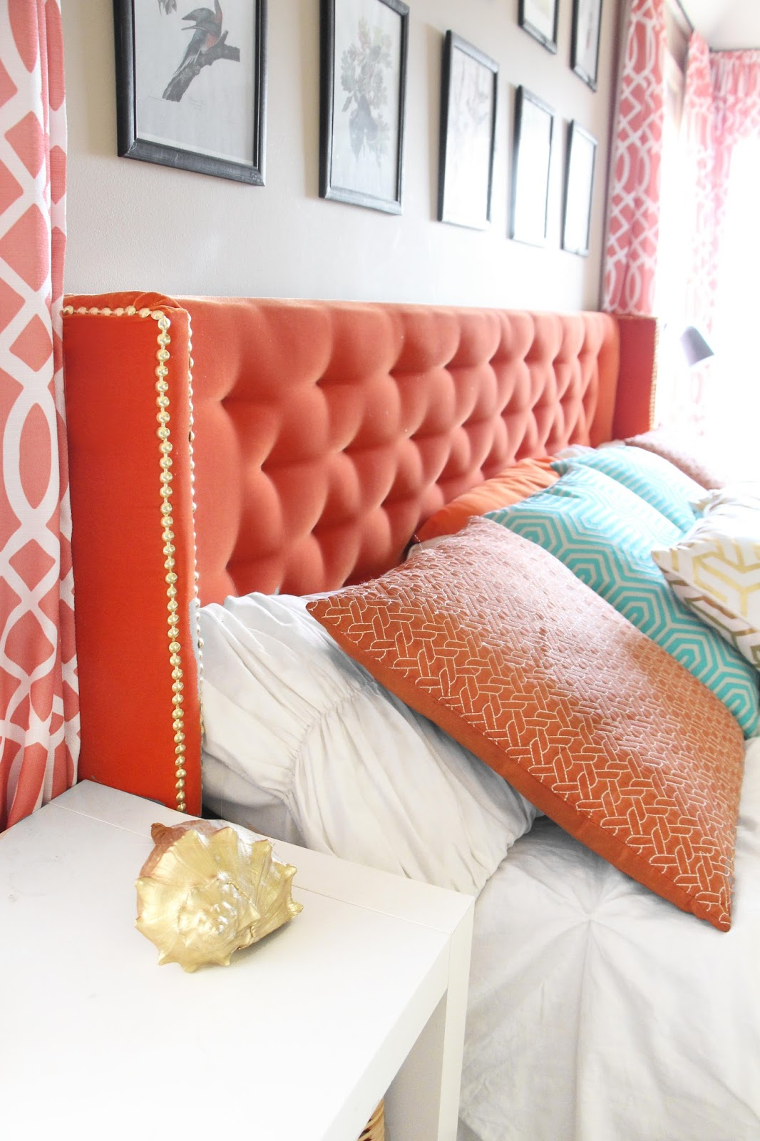 Grosgrain Diy Wingback Tufted Headboard