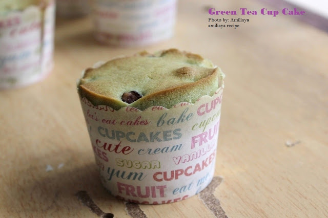 Green tea cup cake