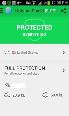تطبيق Hotspot Shield VPN لفتح المواقع والتطبيقات المحظورة مدفوع للأندرويد