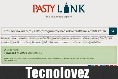 VIDEO CON PASTYLINK SCARICA