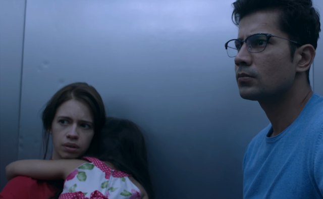 Ribbon, Kalki Koechlin and Sumeet Vyas, elevator scene