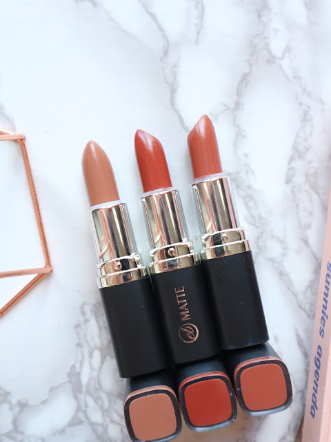 Ever Bilena Mirrored Mocha, Port and Skin Lipstick