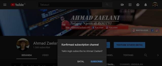 Cara Terbaru Membuat Link sub confirmation Youtube