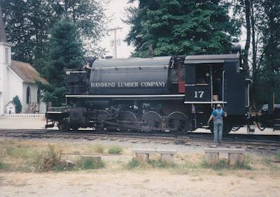 Hammond Lumber Company 2-8-2T #17 at Elbe, Washington, in August 1998