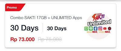 Cara Mengaktifkan Paket Combo Sakti Telkomsel 17GB + Unlimited Apps