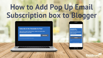 adding email newsletter subscription box blogger