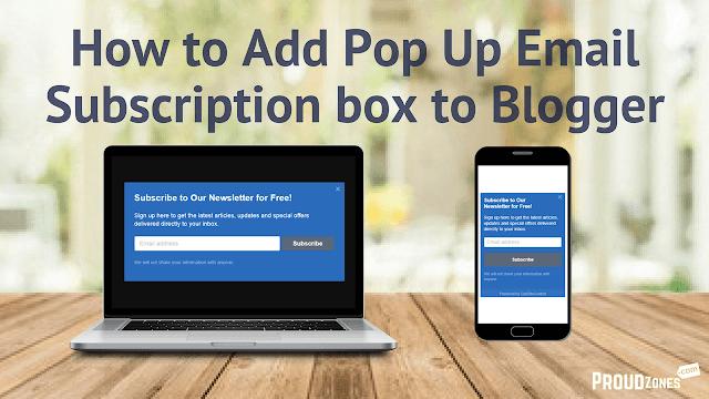 adding email newsletter subscription box blogger