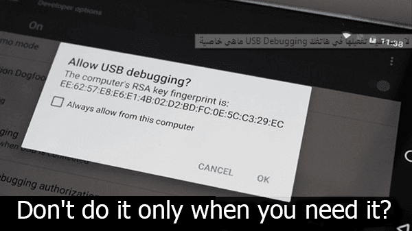 What are the USB Debugging property and discover its importance and why don't you have activated in your phone.