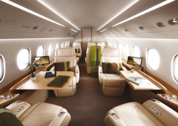 Dassault Falcon 2000S interior