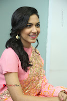 Actress Ritu Varma Pos in Beautiful Pink Anarkali Dress at at Keshava Movie Interview .COM 0267.JPG
