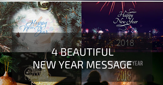 Add Happy New Year Message to your Blog 2018