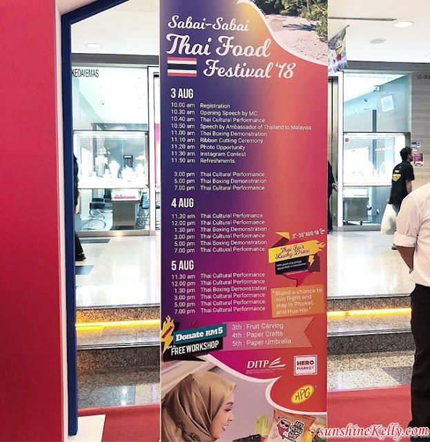 Sabai Sabai Food Festival 2018, Kuala Lumpur, Berjaya Times Square, Food Fest, Thailand, Sabai Sabai, Thai food