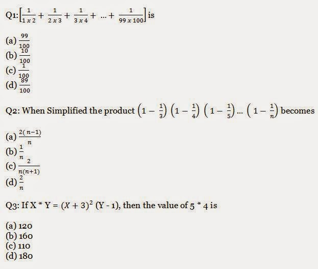 Simplification Questions and Answers