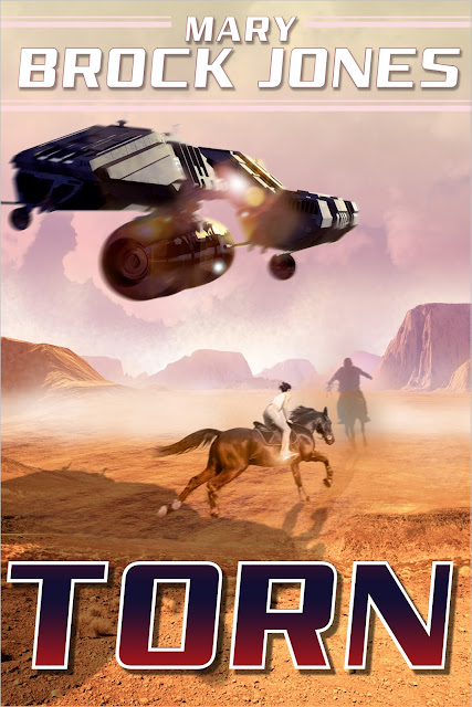 """Torn"" romantic sci-fi, author Mary Brock Jones, cover designer Kura Carpenter"