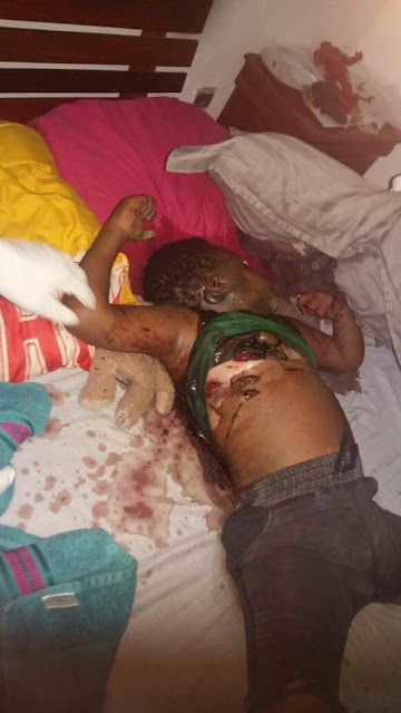 OMG! Cameroonian father allegedly strangles, stabs his three beautiful young children to death (graphic photos)