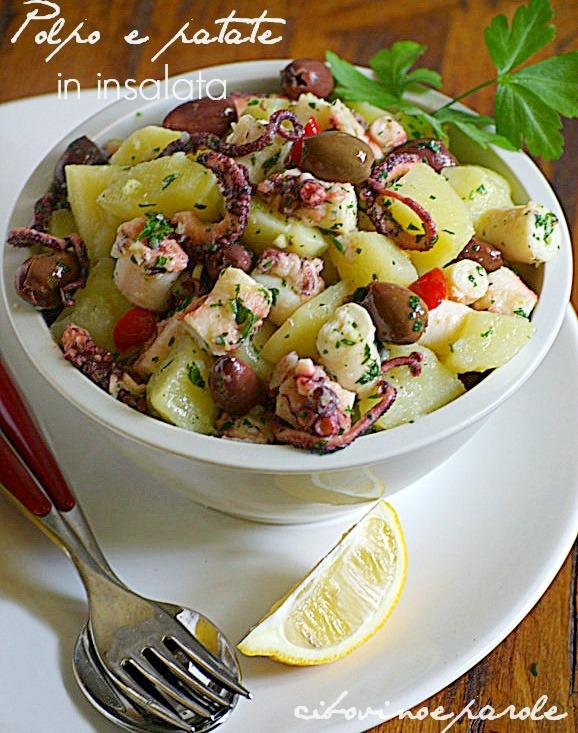 F oto polpo e patate in insalata - cottura pentola a pressione Anna Molino