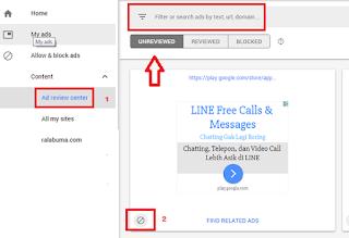 cara block iklan adsense negatif atau sensitif