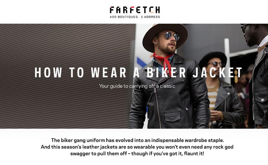 A Man in a Biker Jacket. Farfetch Series