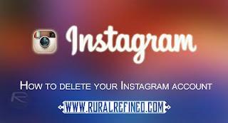 cara mudah hapus akun instagram