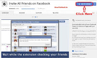 how to invite friends to like a page on facebook in one click