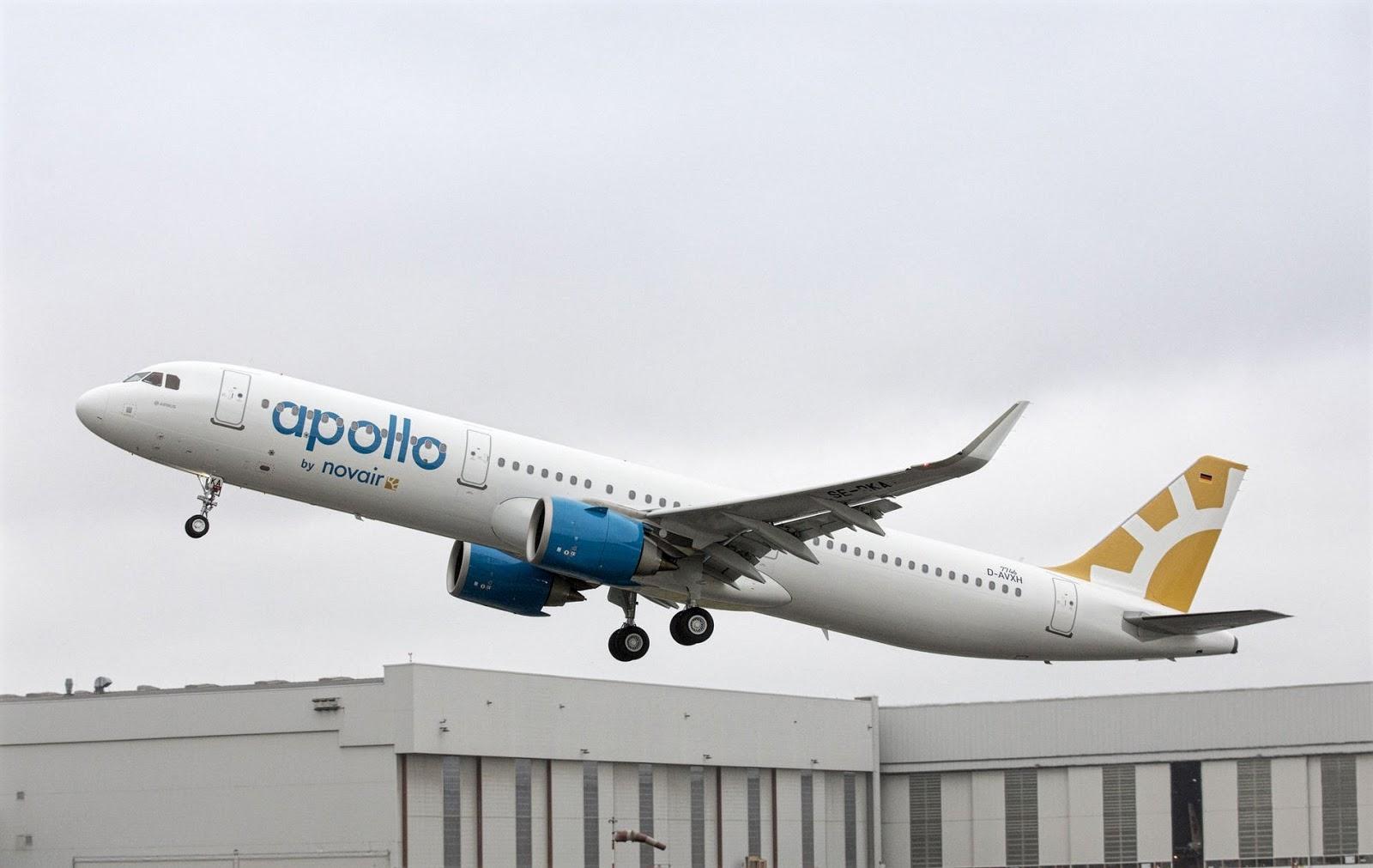 Apollo by NovAir Airbus A321neo Takeoff