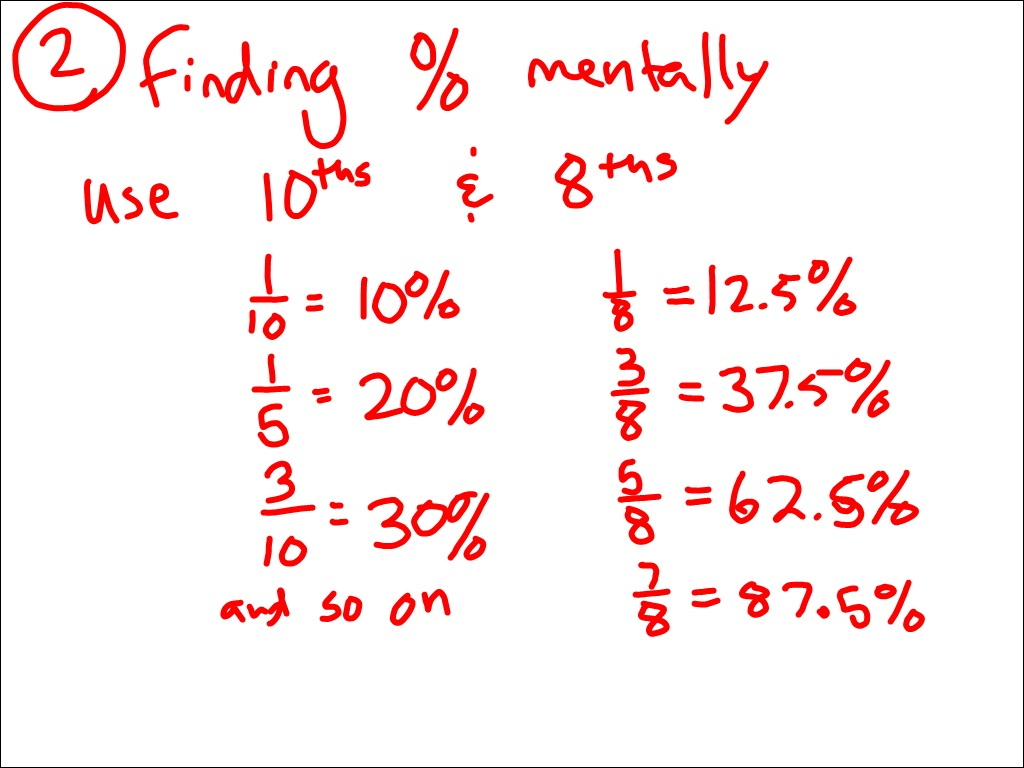 Math homework help percentages